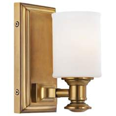 "Harbour Point 4 3/4"" Wide Liberty Gold Wall Sconce"