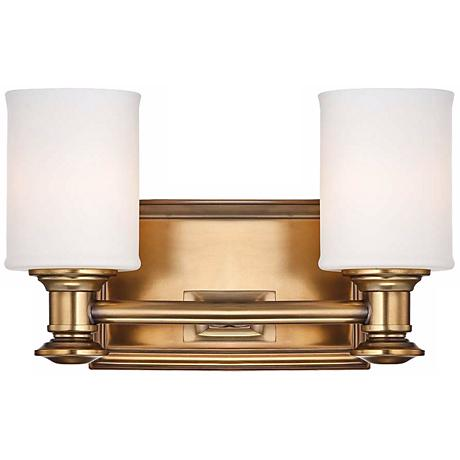 "Harbour Point 11 1/4"" Wide 2-Light Liberty Gold Wall Sconce"