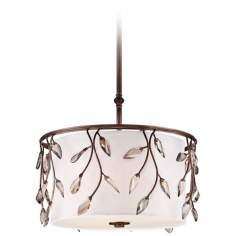 "Arctic Leaf 19"" Wide Bronze Pendant Light"