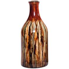 Smokey Topaz Small Hand-Blown Glass Bottle
