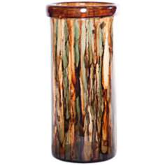 Smokey Topaz Large Hand-Blown Glass Cylinder