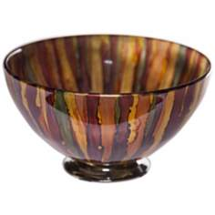 Art Glass Burnished Gold Decorative Bowl