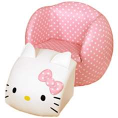Hello Kitty Peek-A-Boo Kids Chair and Ottoman