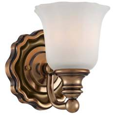 "Felice Bath 5 1/2"" Wide Vintage Cheshire Gold Wall Sconce"