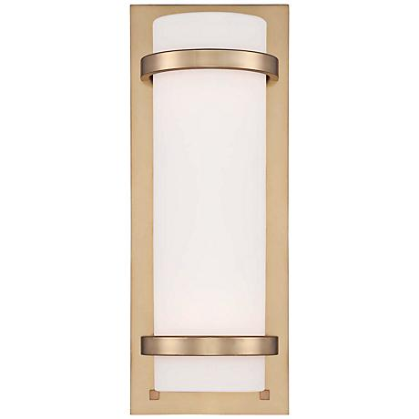 "Etched Opal Glass 17 1/4"" High Honey Gold Wall Sconce"