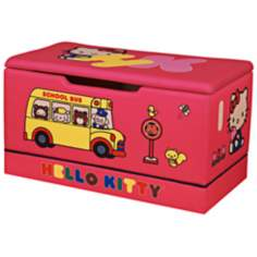 Upholstered Hello Kitty Toy Box