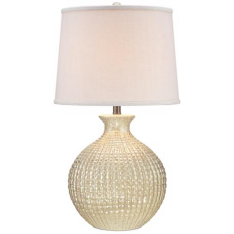 Ivory Pearl Ceramic Table Lamp