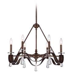"Courant 24 1/2"" Wide Gilded Silver Chandelier"