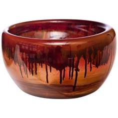 Fiery Blaze Small Recycled Glass Bowl