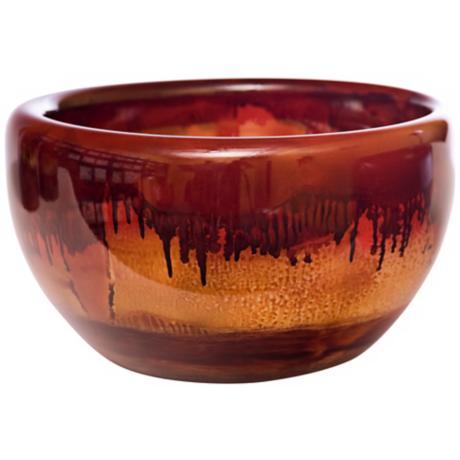 Fiery Blaze Large Recycled Glass Bowl