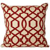 "Tangle 20"" Square Red Throw Pillow"