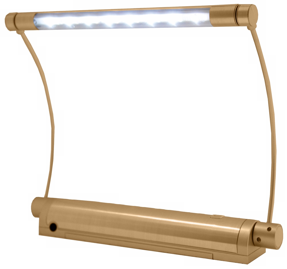 "Buy Rite Lite - Rite Lite Gold 9"" Wide 8 LED Picture Light with Remote"