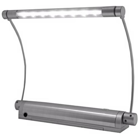 "Rite Lite Silver 9"" Wide 8 LED Picture Light with Remote"