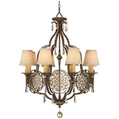 "Murray Feiss Marcella 8-Light 30"" Wide Bronze Chandelier"