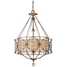 "Murray Feiss Marcella 3-Light 21 1/4"" Wide Bronze Chandelier"