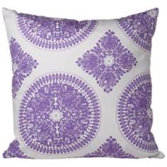 "Zen 20"" Purple Feather Down Throw Pillow"