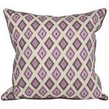 "Kite 20"" Square Purple Ikat Throw Pillow"