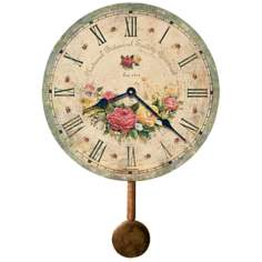 "Savannah 13"" High Botanical Wall Clock"