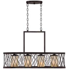 "Criss Cross Cage 32"" Wide Island Chandelier"