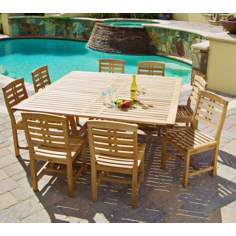 9-Piece Eucalyptus Outdoor Dining Set
