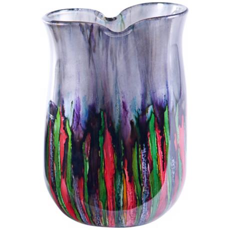 Hand-Blown Art Glass Kaleidoscope Urn