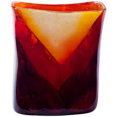 Corozon Rectangular Art Glass Vase