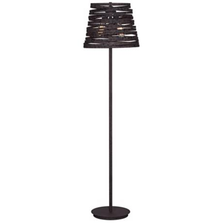 Rust Spun Metal Industrial Style Floor Lamp