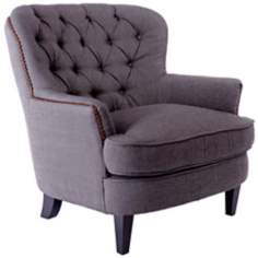 Grey Diamond Tufted Club Chair