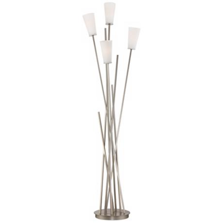 Possini Euro Four Light Asymmetry Floor Lamp
