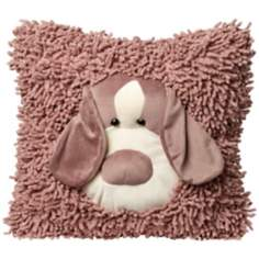 Plush Floppy Ear Dog Accent Pillow