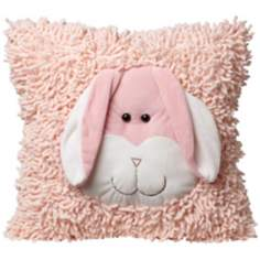 Plush Light Rabbit Pink Accent Pillow