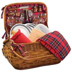 Picnic Time Highlander Bombay Style Picnic Basket Set