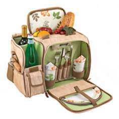 Picnic Time Botanica Malibu Canvas Picnic Basket Set