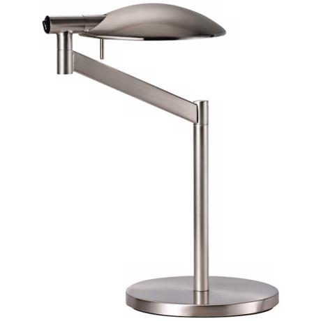 Robert Sonneman Perch Satin Nickel Desk Lamp