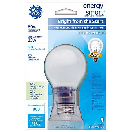 Energy Smart Bright From the Start 15 Watt Hybrid Light Bulb