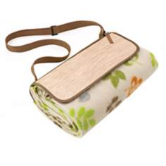 Picnic Time Botanica Picnic Blanket and Tote
