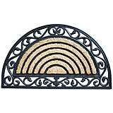 Tuffridge Half Round Wrought Iron Rubber and Coir Doormat