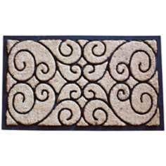 Tuffridge Rectangle Wrought Iron Rubber and Coir Doormat