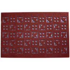 Forest Terracotta Outdoor Flocked Rubber Doormat