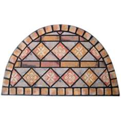 Dutch Tile Arch Flock Recycled Rubber Doormat