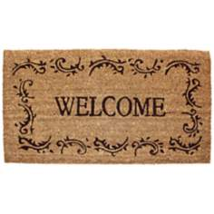 Welcome Filigree Printed Coir Doormat