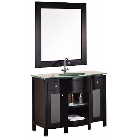 "Rome 43"" Wide Mahogany Sink Vanity Set"