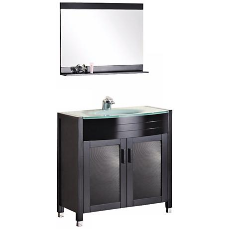 "Waterfall 36"" Single Sink Vanity Set"