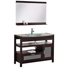 "Milan 43"" Mahogony Single Sink Vanity Set"