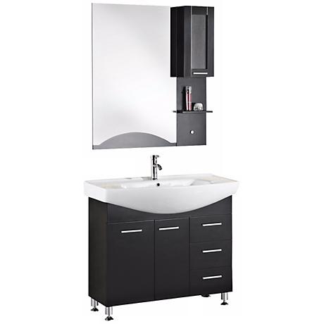 "Sierra 40 1/2"" Wide Single Sink Vanity Set"