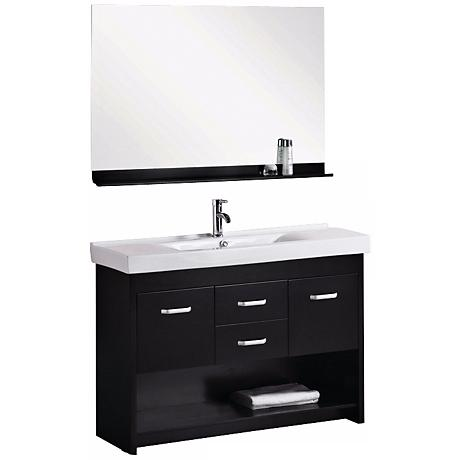 "Citrus 48"" Single Sink Espresso Vanity Set"