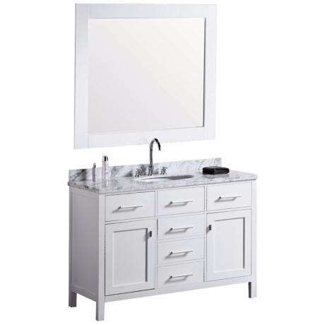 "London 48"" Marble White Single Sink Vanity"