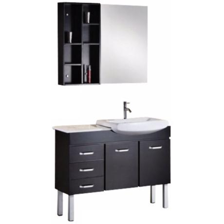 "Tustin Espresso 46"" Wide Single Sink Vanity Set"