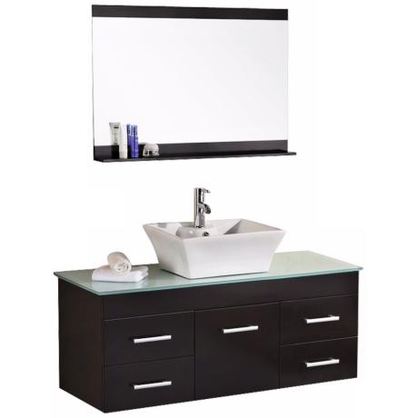 "Madrid Espresso 48"" Wide Wall-Mount Vanity Set"