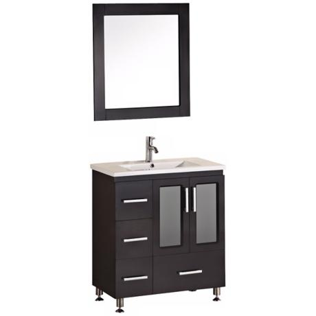 "Stanton Dark Espresso 31 1/2"" Drop In Sink Vanity Set"